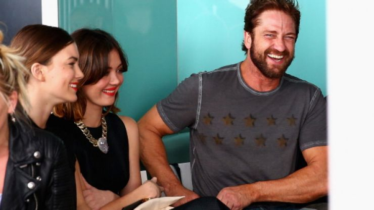 Style Icon? Gerard Butler Sits Front Row For Fashion Week Australia