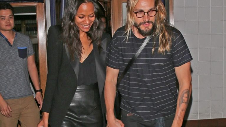 Picture Zoe Saldana S Husband Gets Her Face Tattooed On