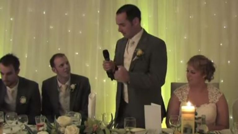 VIDEO: Irish Groom Forgets Speech, Heads Back To Australia To Find It