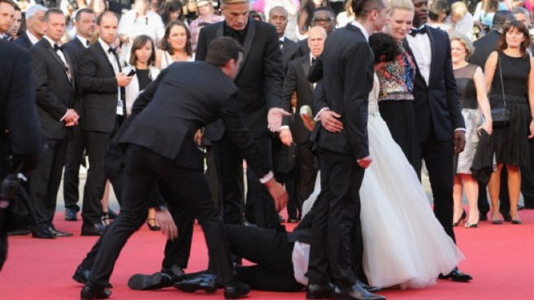 Man Crawls Up Skirt Of Actress After Crashing Red Carpet At Cannes