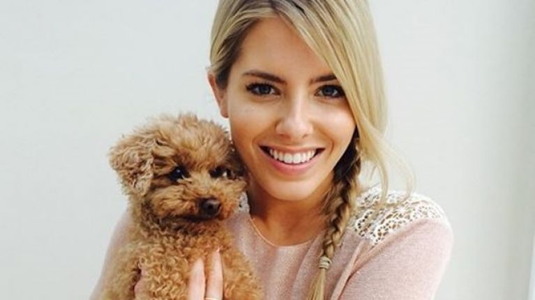 picture mollie king posts cute picture of pooch alfie her ie