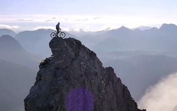 MUST WATCH: Cyclist Defies Death As He Takes on Isle of Skye Mountain Ridge