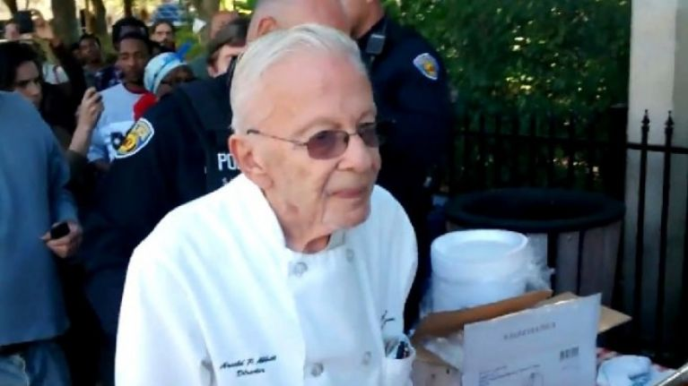 90-Year-Old Man Arrested and Fined for Feeding the Homeless