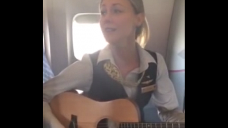 Flight Attendant Surprises Passengers With Brilliant Cover Of Lorde's 'Royals'