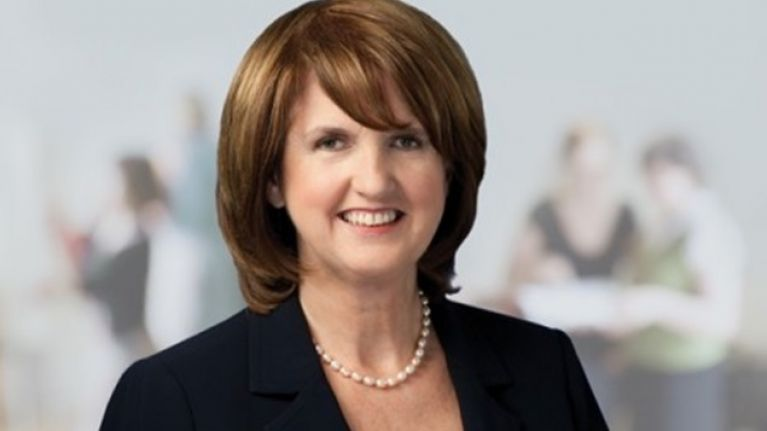 VIDEO: Tánaiste Joan Burton Gets Hit By Water Balloon During Irish Water Protest