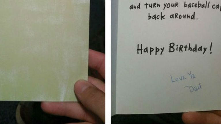 Pic A Man Received A Birthday Card From His Late Father 16 Years