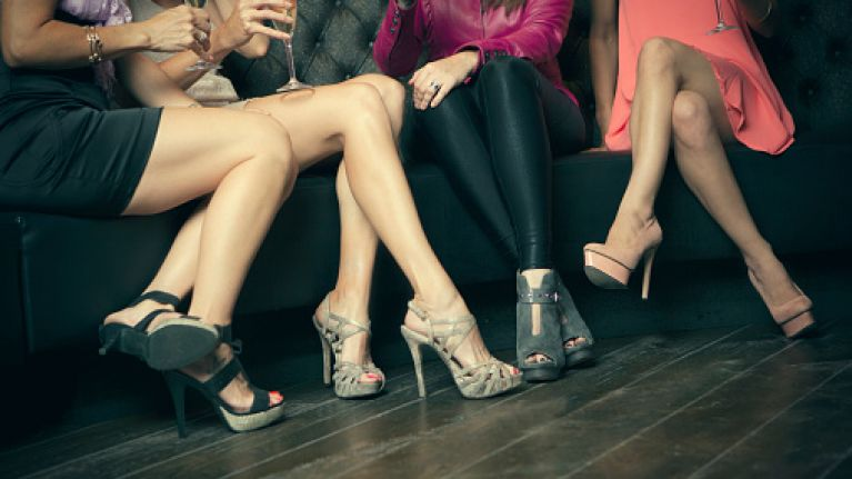 Wearing high heels can damage your vocal chords