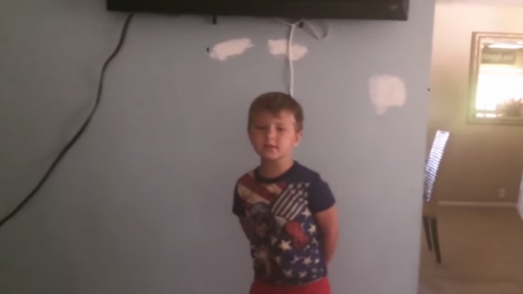 Caught Rotten! This Little Boy Trying to Hide Chocolate is the Funniest Thing You'll See Today