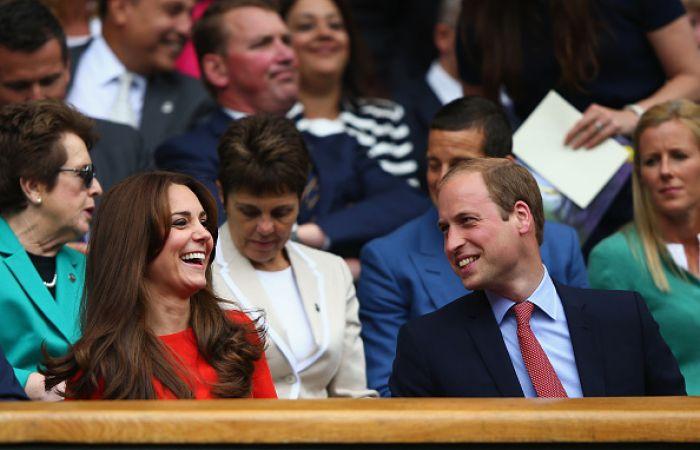 The royal couple sharing a joke