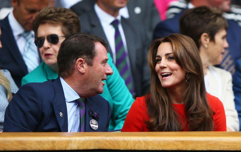 Kate talking to Philip Brook