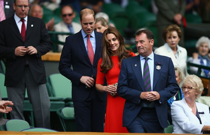 Arriving on Centre Court