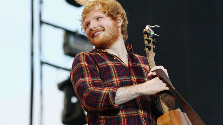 This Picture Of Ed Sheeran Made Out Of Heinz Sauce Is Pretty Amazing