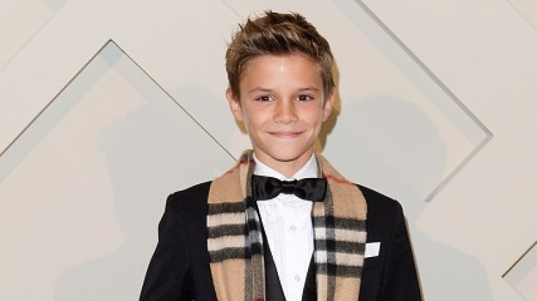 Romeo Beckham Debuts A Very Different Hairstyle Her