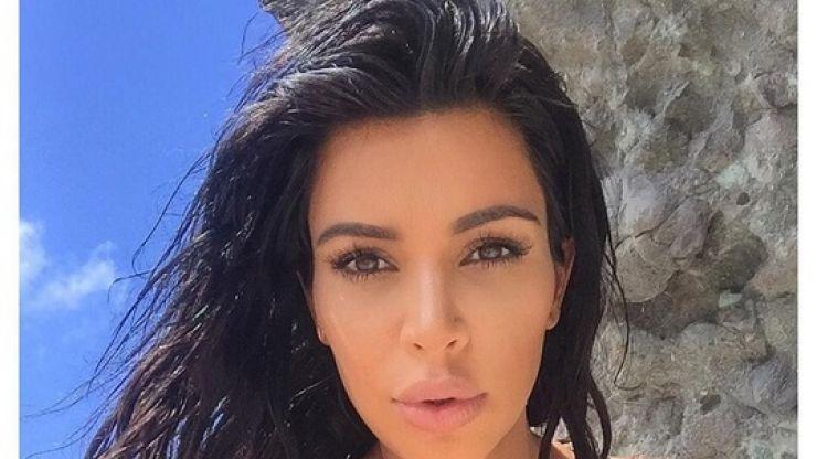 Kim Kardashian Wears a Cape Dress and We Love It