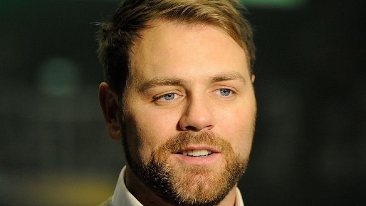 Brian McFadden shows off the dramatic results of his hair transplant