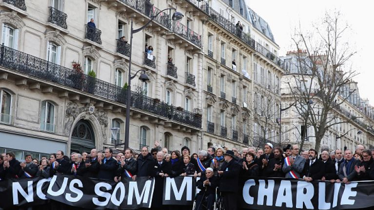 PIC: Charlie Hebdo Release Moving Front Cover Image For This Week's Issue