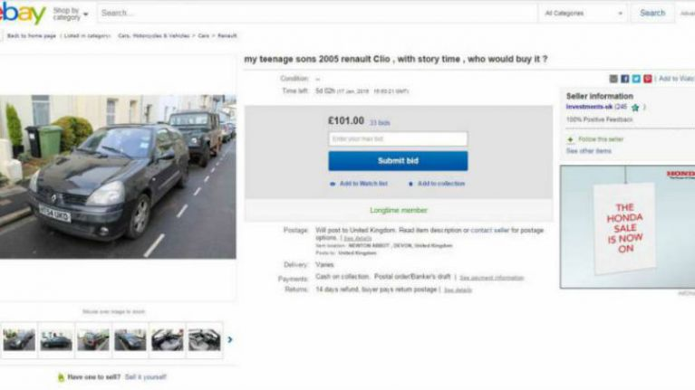 Father Sells Son's Car On eBay In Hilariously Honest Auction