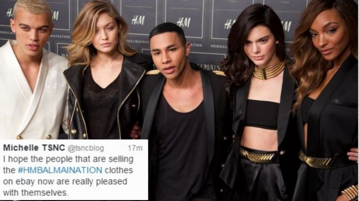 Balmain x H&M Sells Out And People Lose Their Minds