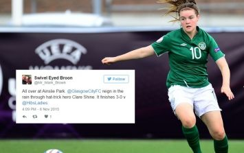 Ireland's Clare Shine Stamped Her Authority All Over The Scottish Women's Cup Final At The Weekend