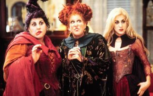 Bette Midler dressed as her Hocus Pocus character for a Halloween party