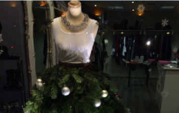 PICTURE: There's A Christmas Tree Dress In Dublin That's Causing A Fashion Frenzy