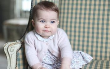 PIC: The first photo of Princess Charlotte with the Queen has been released