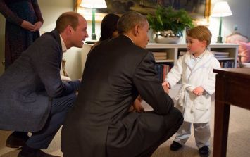 Prince George wore monogrammed PJs to meet President Obama and people can't deal