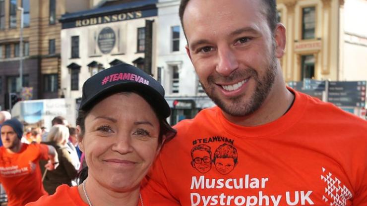 Buncrana mother Louise James and Davitt Walsh ran the Belfast Marathon in memory of her son