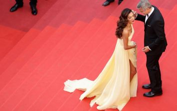 Amal Clooney almost suffered a wardrobe malfunction