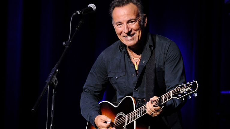 Bono joined Bruce Springsteen on stage tonight and there was a big reaction