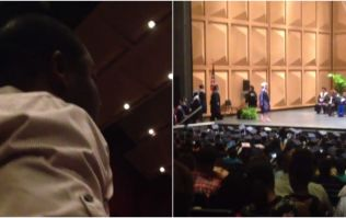 WATCH - This man's reaction to his wife getting her Master's degree is too adorable