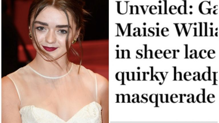 Maisie Williams Rewrites Daily Mail Headline About Herself And It Is Fantastic
