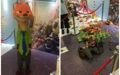 A four-year-old has destroyed a €13,500 LEGO sculpture in China
