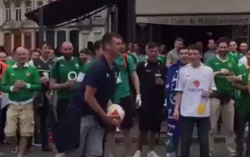 This Irish fan may have a future career playing with the Boys in Green