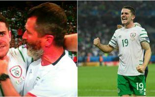 Everyone loved Roy Keane's celebratory death grip on Robbie Brady's throat