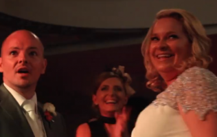 Newly married couple get the shock of their lives as their favourite band appear
