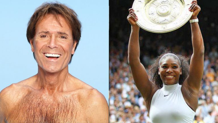 Cliff Richard managed to scare the bejaysus out of Serena Williams