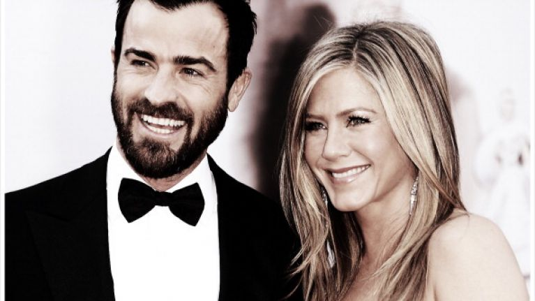 Justin Theroux just commented on Jennifer Aniston's first Instagram post
