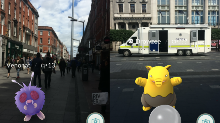 Here's what Pokémon GO looks like around Dublin