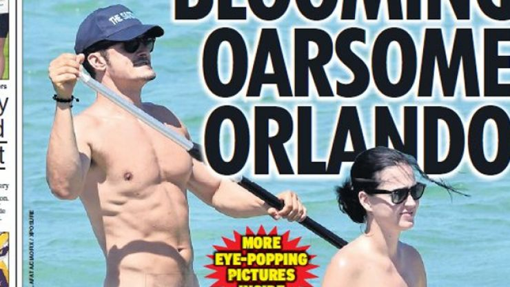 Men everywhere admit to feeling 'inadequate' after seeing pics of Orlando Bloom's tackle