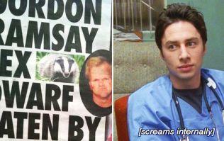 Scrubs star Zach Braff is loving this story about a dead Gordon Ramsay 'sex dwarf' eaten by a badger