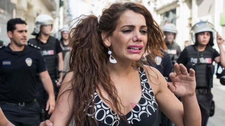 Protestors in Turkey take to the streets following the murder of transactivist Hande Kader