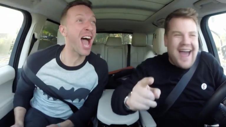 WATCH: James Corden Teases New Carpool Karaoke With Chris Martin