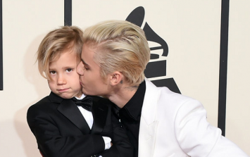 PIC: Justin Bieber's Date To Last Night's Grammys Stole The Show (It Was His Little Brother)