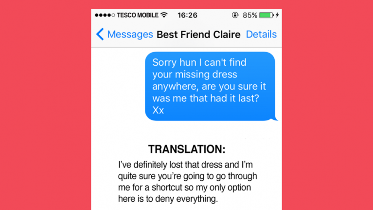 10 texts we ve all sent and what they actually mean her ie