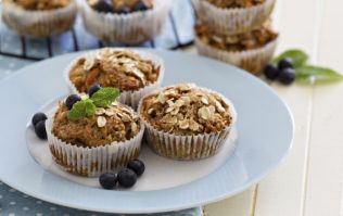 These banana cinnamon muffins are PERFECT for a morning snack