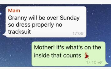 Irish Family WhatsApp Group - Halloween, Scary Clowns & Dad Jokes