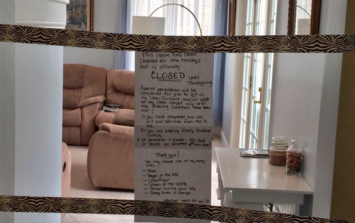 People love the Mam who has closed her living room for a month