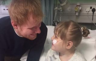 Ed Sheeran proves he's just an absolute dote by visiting a sick fan