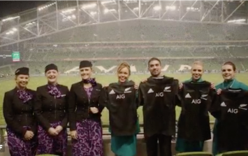 Aer Lingus just lost a bet with Air New Zealand and are now suffering the forfeit